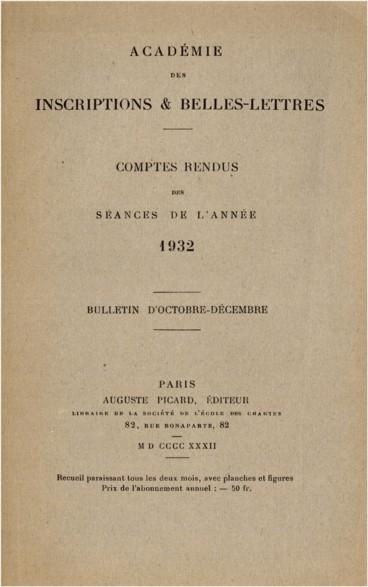 inafferrabile sillabare evidente  Éloge funèbre de M. Salomon Reinach, membre de l'Académie - Persée