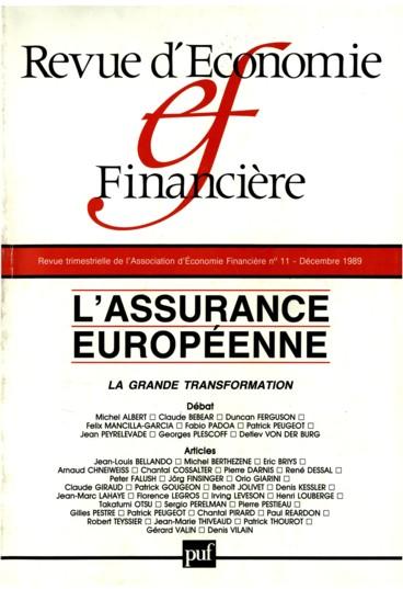 Presentation Que Vive L Economie De L Assurance Persee