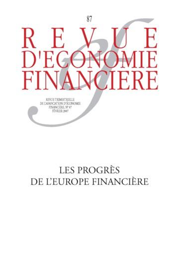 LA REVUE D'ECONOMIE FINANCIERE