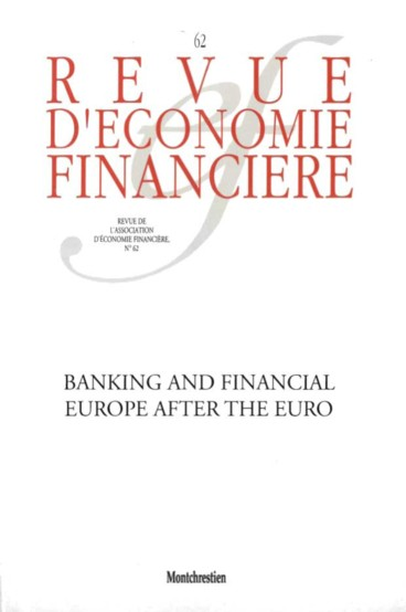 Revue d 39 conomie financi re english ed n 62 2001 Table financiere