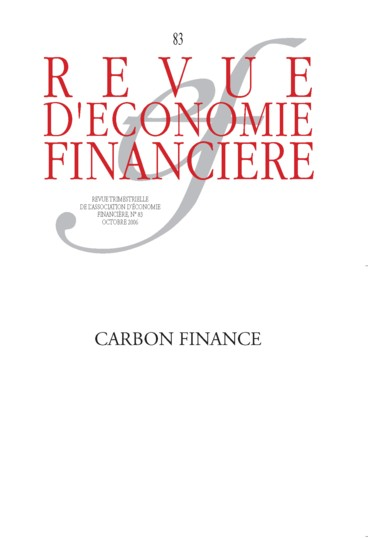 Revue d 39 conomie financi re english ed n 83 2006 for Table financiere