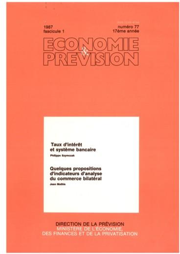 Quelques Propositions D Indicateurs D Analyse Du Commerce Bilateral