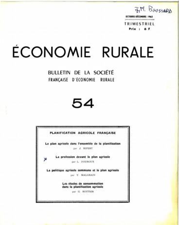 Table des matières 1962