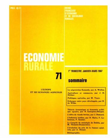 Les Echanges Agricoles Entre Pays Developpes Persee
