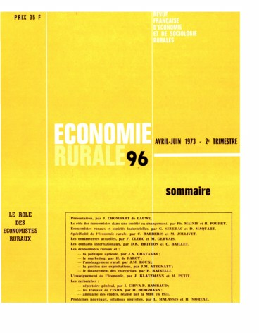 Discussion   Économie rurale