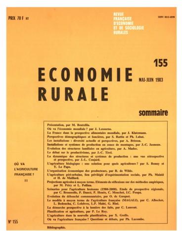 Bibliographie    Économie rurale