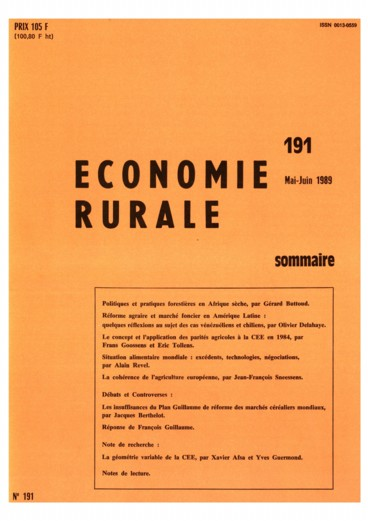 La géométrie variable de la CEE