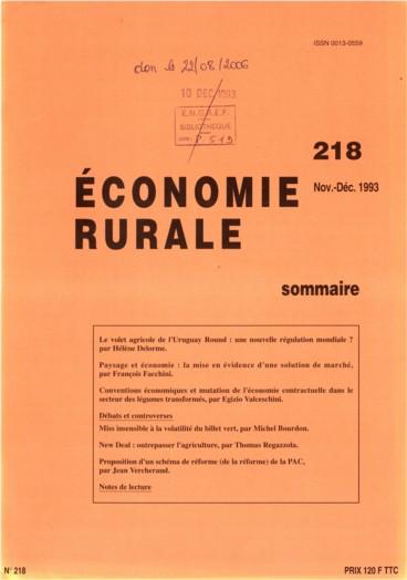 Paysage Et Economie La Mise En Evidence D Une Solution De Marche