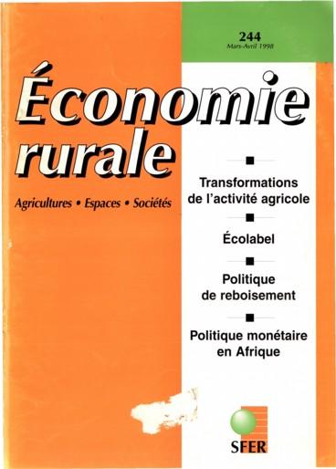 Résumés    Économie rurale