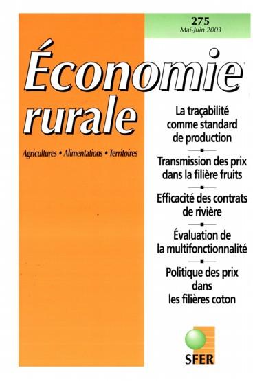 Editorial   Économie rurale