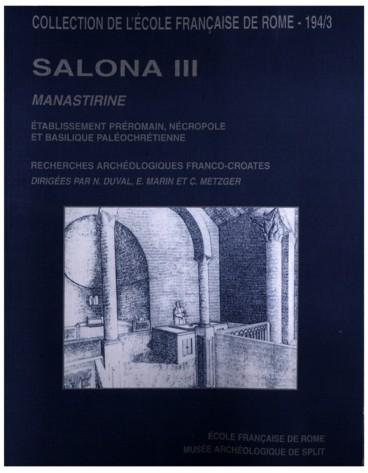 Salona III. Recherches archéologiques franco-croates à ...