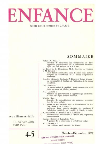 Une critique expérimentale de Piaget