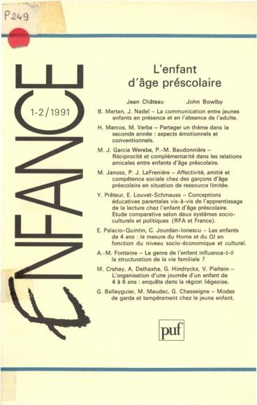 Jean Château   Enfance
