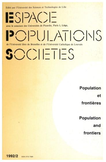 Populations Et Frontieres Problematiques Et Methodes Persee