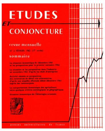 La Situation Economique Fin Decembre 1961 Et Les