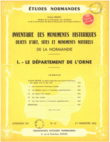 Inventaire Des Monuments Historiques Objects D Art Sites Et