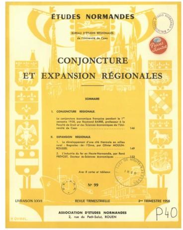 93488f7224 Conjoncture et expansion régionales - Persée