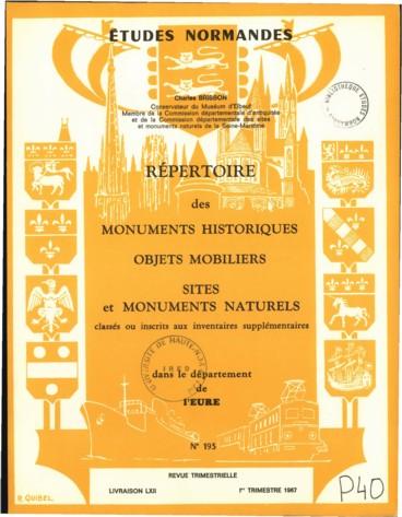Répertoire Des Monuments Objets Mobiliers Sites Et Monuments