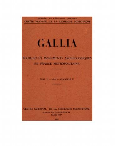 Recherches archéologiques en Gaule en 1947 - Persée 07e758c70f7