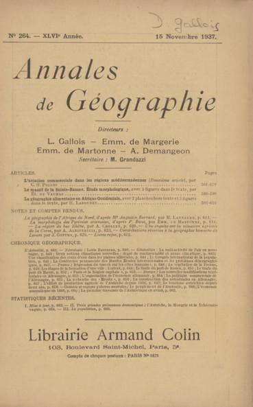 La Geographie De L Afrique Du Nord D Apres Mr Augustin Bernard Persee