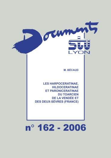 Les Harpoceratinae Hildoceratinae Et Paroniceratinae Du Toarcien De La Vendee Et Des Deux Sevres France Persee