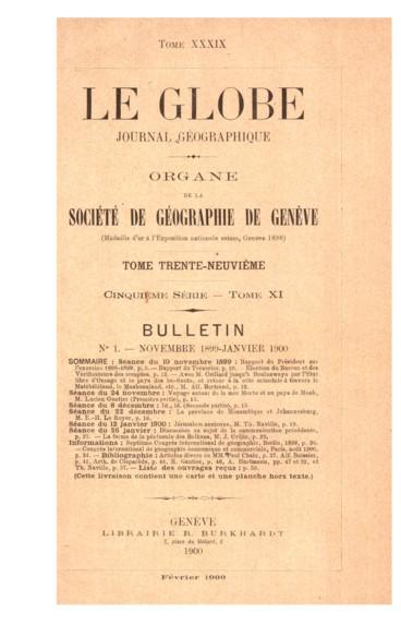 Présidence de M. Arthur de Claparède, Président