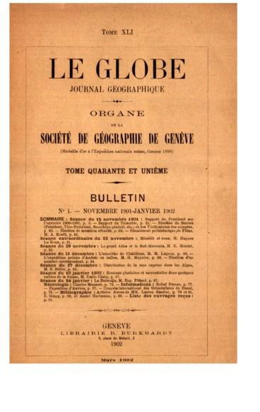Exposition dAnvers    Le Globe. Revue genevoise de géographie
