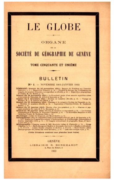 Liste des membres de la Société de géographie de Genève
