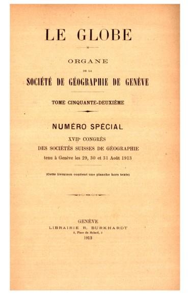 Les travaux glaciologiques de lexpédition suisse au Groënland 1912