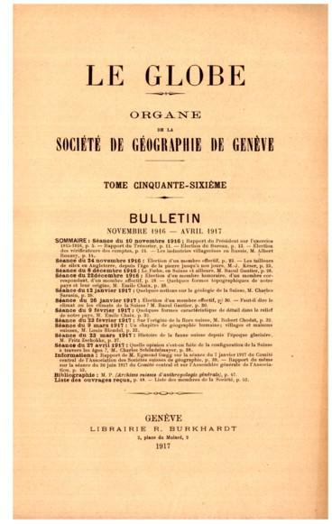 Rapport de M. Egmond Goegg délégué de la Société de géographie de Genève à la séance du Comité central de lAssociation des Sociétés suisses de géographie, le 30 juin, et à lAssemblée générale de lAssociation, le 1