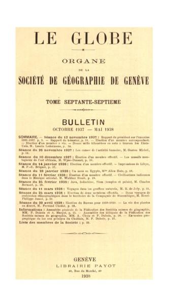 Assemblée générale de la Fédération des Sociétés suisses de géographie
