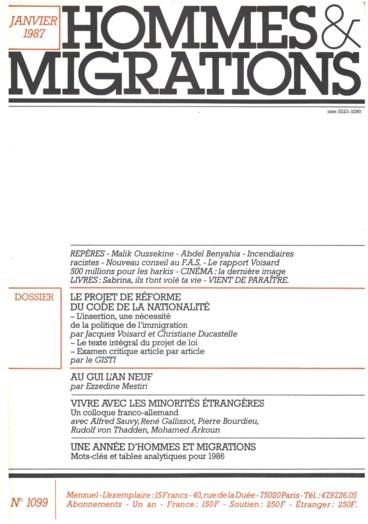 Repères    Hommes et Migrations