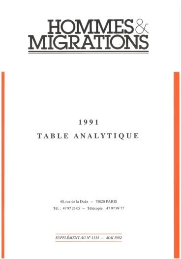 Télévision    Hommes et Migrations