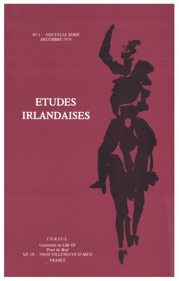 The Capucin Annual   Études irlandaises
