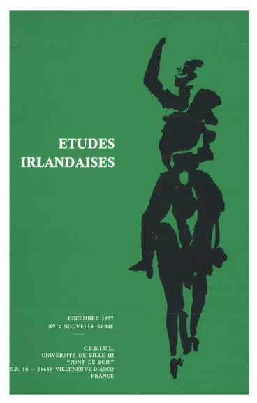 Richard J. Finneran, éd. : Anglo-Irish Literature. A Review of Research ; Maurice Harmon : Select Bibliography for the Study of Anglo-Irish Literature and its Backgrounds