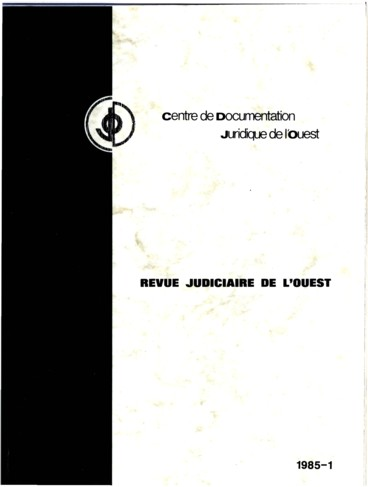 Dossiers De Jurisprudence Persee