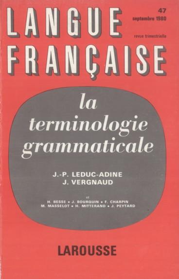 La genèse de la nomenclature de 1910 et ses enseignements