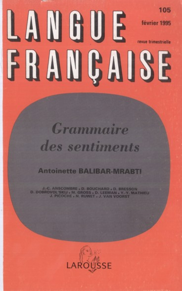 Abstracts    Langue française