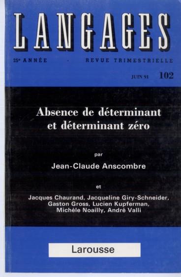 La Determination Zero Quelques Proprietes Persee