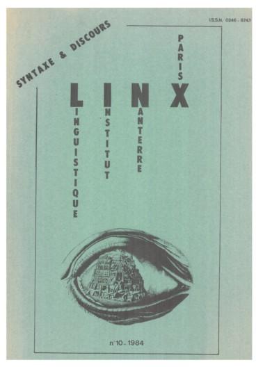 Syntaxe et discours un exemple : linfinitif indépendant
