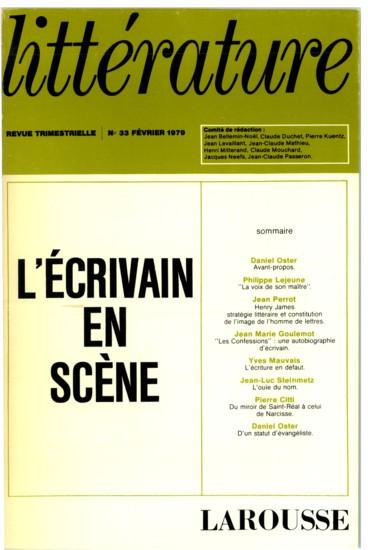 Les Confessions Une Autobiographie D Ecrivain Persee