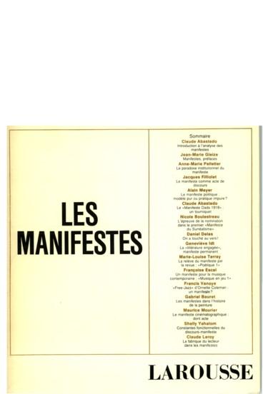On A Touché Au Vers Note Sur La Fonction Manifestaire Du