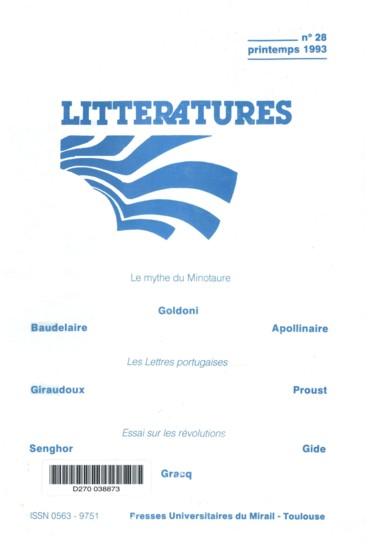 Les Lettres Portugaises Avis Au Lecteur Strategie Ou Aveu Persee