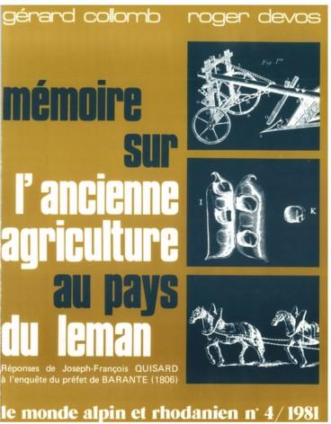 De Du L'ancienne Agriculture LémanRéponses Sur Au Pays Mémoire Rq3AjcL54
