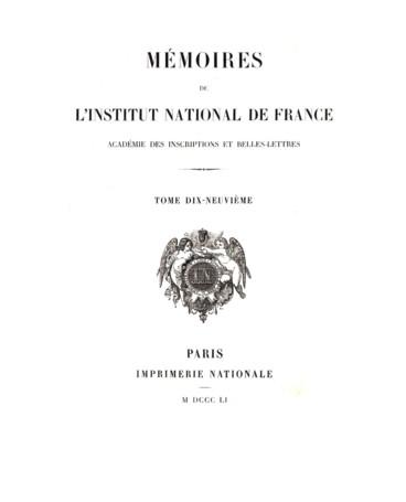 Mémoire Sur Le Papyrus Et La Fabrication Du Papier Chez Les Anciens