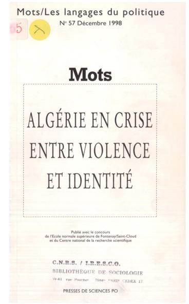 Algérien Dans Limbroglio Des Dénominations Persée
