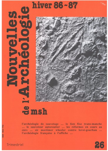 Archéologie relative et de datation absolue