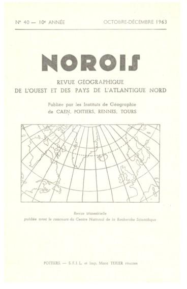 La 44e Excursion géographique interuniversitaire 8 mai 1961. Poitou-Charentes compléments