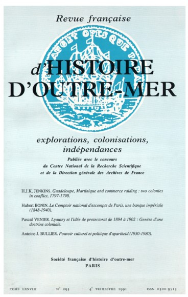 Guadeloupe Martinique And Commerce Raiding Two Colonies
