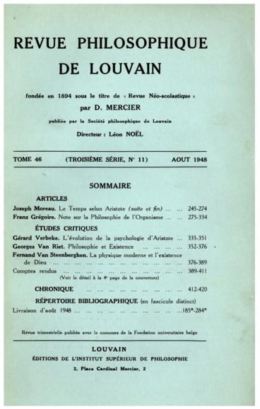 Vincenzo De Ruvo, Lessere e lesistenza. I massimi problemi del reale